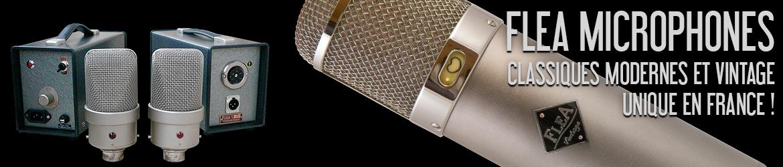 FLEA : Microphones de studio vintage et modernes